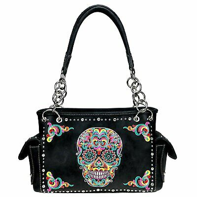"""Montana West Designer Sugar Skull Collection Wide Tote /""""COFFEE/"""" COLOR MW720-8317"""