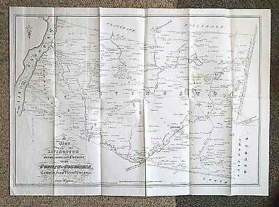 1798 (1850) map New York Towns  LIVINGSTON..GERMANTOWN..CLERMONT Columbia county