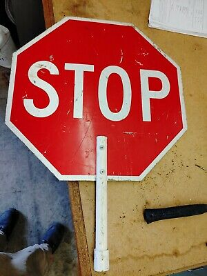 Stop Slow 2 Sided Aluminium sign