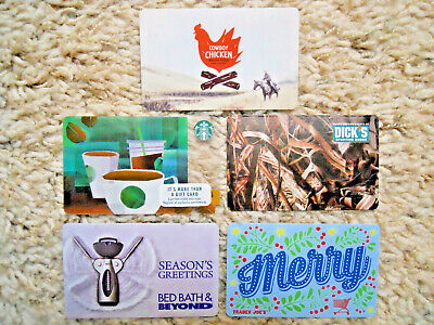 Collectible Gift Cards, five cards, new, unused, no value on cards        (O-12)