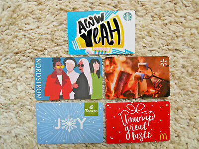 Gift Cards, Collectible, five cards, new, unused, no value on the cards  (J-7)