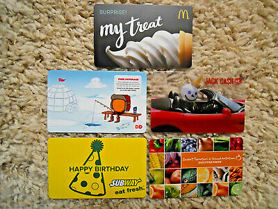 Collectible Gift Cards, five new, unused cards, no value on cards         (G-13)