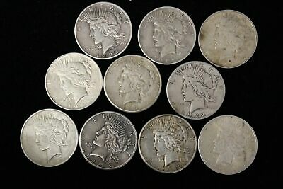 1922-1923 Silver Peace Dollars-Sale Priced-Assorted Dates-10 Coins Total
