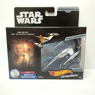 Hot Wheels Star Wars Starships Commemorative Series | Naboo Starfighter Metallic