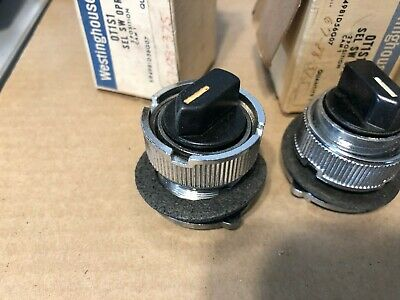 GE. Selector Switch, 2 Position, OT1S1