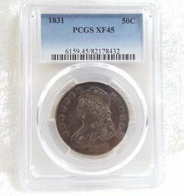 1831 Capped Bust/Lettered Edge Half Dollar PCGS XF 45  Silver 50c