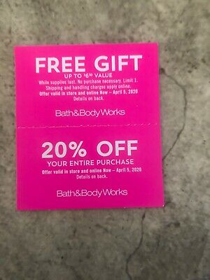 Bath And Body Works ~Gift~20% Off ~ $7 Fragrance Mist ~expires 3/1