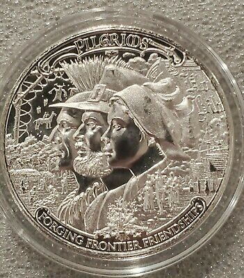 2020 Frontiers 1 oz .999 Silver  Pilgrims 1st in Series Mayflower Thanksgiving