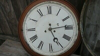 early american  large gallery wall clock walnut case project clock
