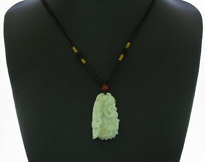 "1.8""China Certify Grade A Nature Hisui Jadeite Jade Chinese Cabbag Neckalce 8444"