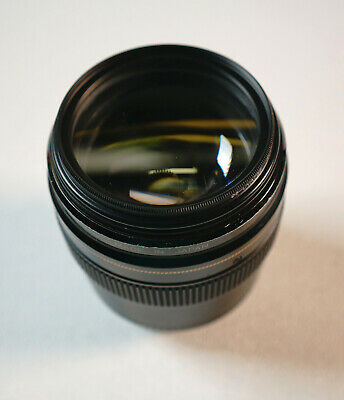 Clean Canon EF 100mm F/2 USM Camera Lens Prime Fast Bright Glass UV 58MM Filter