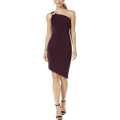 Calvin Klein Womens Purple Sleeveless O-Ring Cocktail Dress 16 BHFO 8548