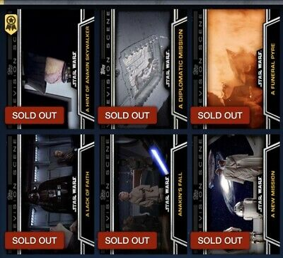 Topps Star Wars Card Trader - Lot Of 26 Series 1 Widevision Cards (2015)