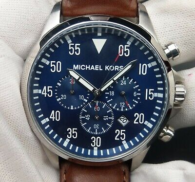 New Old Stock- MICHAEL KORS Gage MK8362 - Blue Dial Chronograph Men Watch