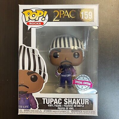 Funko POP 2Pac Tupac Shakur #159 Thug Life In Overalls Exclusive IN HAND