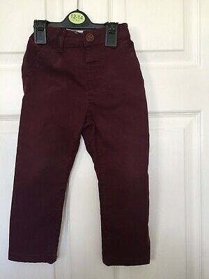 Next Baby Boys Claret Jeans Size 1.5 - 2 years
