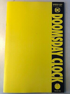 DC COMICS: DOOMSDAY CLOCK 12 VIRGIN COVER COLLECTOR 1st CLARK