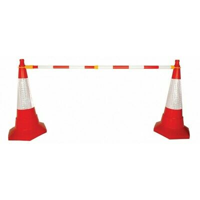 Extending Barrier Cone Pole Red White FTRAF705 Signs & Labels Quality Product