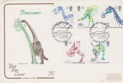 Gb Stamps First Day Cover 1991 Dinosaurs Loch Ness Rares Collection