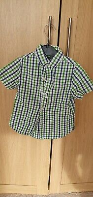 Next boys blue & green checked shirt age 3 years