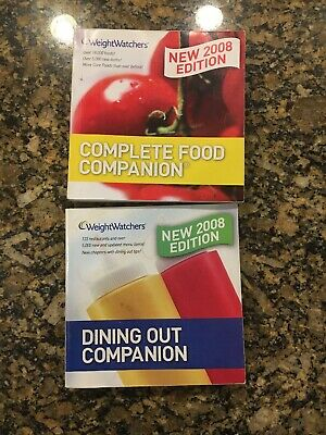 Weight Watchers Ww 2008 Edition Dining Out Companion & Complete Food Companion