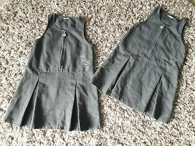 Girls Age 5 Grey School Pinafore From Next Excellent Condition