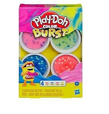 PLAY-DOH - Play-Doh Colour Burst Tub Pack - SPACE - Brand New
