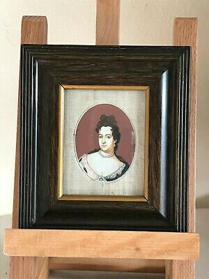 Fine Antique 18th 19th Century Hand painted Miniature Portrait, Continental