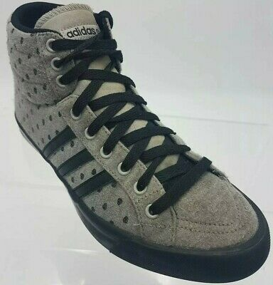 Adidas Neo High Tops Trainers Sneekers Black Label Grey & Black Mens Size 5.5 $