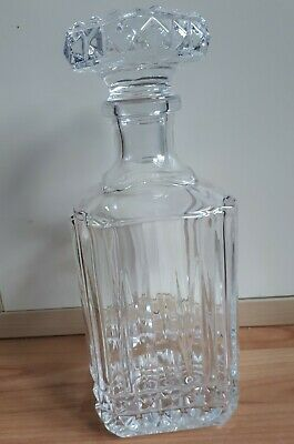 Vintage SQUARE DECANTER Whiskey Port Sherry Wine