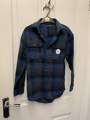 Boys blue casual shirt by next Age 9 new without tags