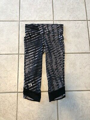UNDER ARMOUR HeatGear CROPPED LEGGINGS Yoga Pants Size S Small