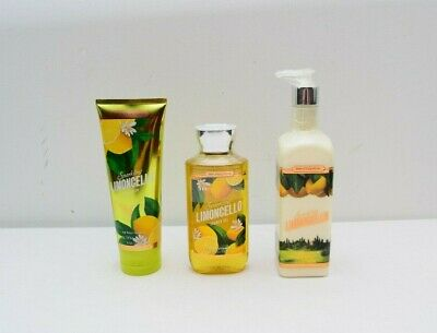 Bath And Body Works Limoncello Set Body Cream Hand Lotion Shower Gel New
