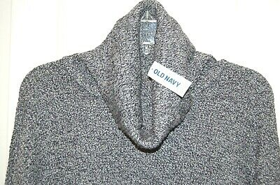 NWT Old Navy Women Gray Black Variegated Knitted Pullover Sweater Sz XL
