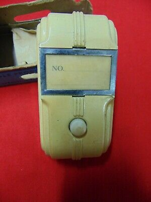 VTG Eagle MFG. Art Deco Bakelite Push button, doorbell buzzer Cream color NOS