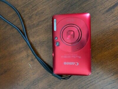 Pristine Canon PowerShot SD780 IS 12.1MP ELPH Digital Camera RED battery charger