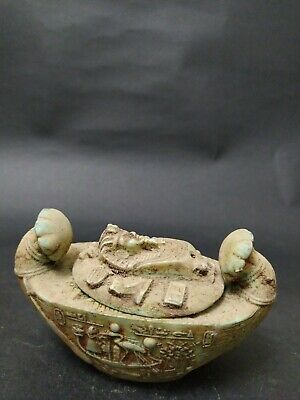 RARE Antique ANCIENT EGYPTIAN ANUBIS After Life Boat 1658-1455 BC