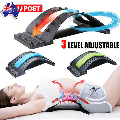 Magic Back Massager Stretcher Fitness Lumbar Support Waist Spine Pain Relief AU