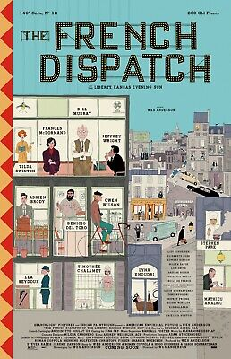 The French Dispatch movie poster : 11 x 17 inches : Wes Anderson, Bill Murray