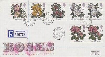 Gb Stamps First Day Cover 1991 Roses Rosemarket Cds Rares Collection