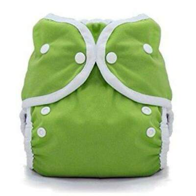 Thirsties Duo Wrap Cloth Diaper Cover Meadow Green Snap Close Sz 2 18-40 lbs