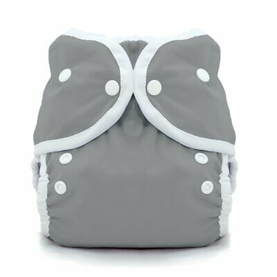 Thirsties Duo Wrap Cloth Diaper Cover Fin Gray Snap Close Toddler Sz 3 40-60 lbs