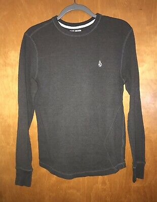 NEW Volcom Hawkins thermal long sleeve shirt gray small logo M Medium or XXL 2XL