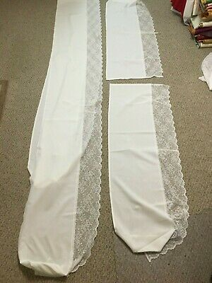 Lace Altar Rail Covers + Traditional Catholic Mass + Vestment