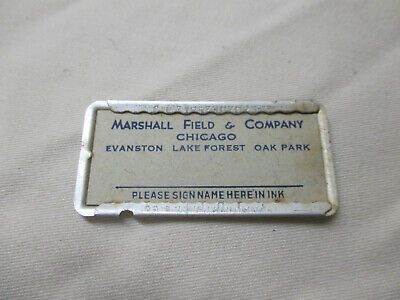 Vintage Marshall Field & Company Charge Card Plate '40's? '50's?