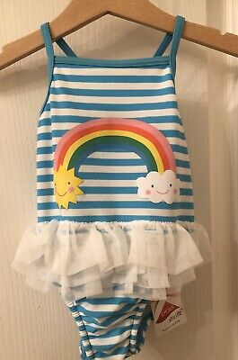 Baby Girl's M&S Swimming Costume 12-18 Months Brand New With Tags