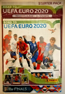 Panini Road To Euro 2020 starter pack  Album & 31 stickers new sealed UK edition