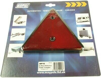 Reflective Trailer Triangle -Pair 016 Maypole Genuine Top Quality Product New