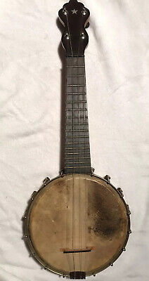C. Bruno & Sons Banjo Ukulele 1920's Good Condition Signed On Back