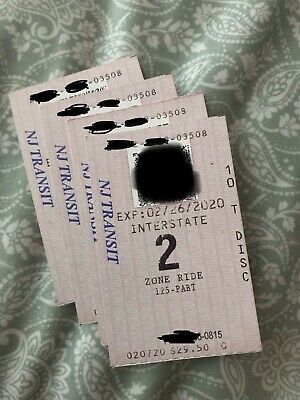 NJ Transit 4 Bus Tickets due to expire end of February